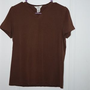 Brooks Brothers 346 Brown Stretch Shirt M